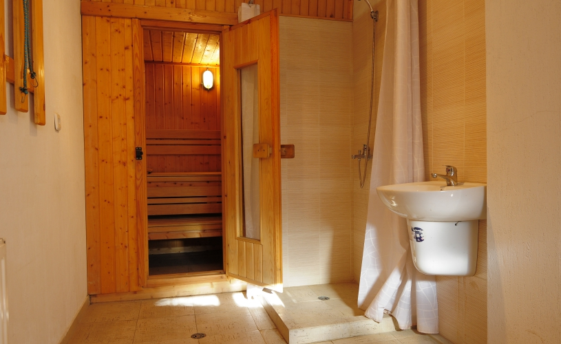 At your disposal is our original Finnish sauna.